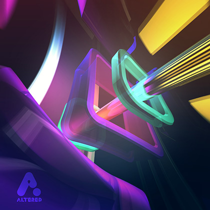 abstract image created in after effect using shape layers, altered.tv london, design animation
