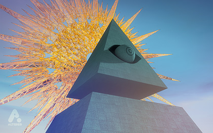 All seeing eye, still image 3D CG render, illuminati, altered.tv london, design animation